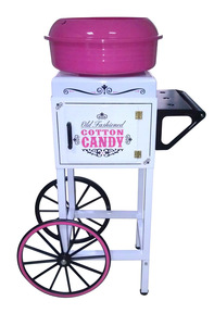 New, Nostalgia Electrics, CCM510, Vintage Collection, Candy Cart, Hard, and Sugar-Free, Candy Cotton, Spins, Sugar Floss, into Cotton, Candy, Cart, or Counter Top