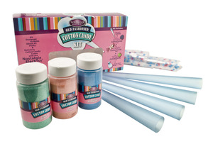 New Nostalgia Electrics FCK800 Flossing Sugar Cotton Candy Kit