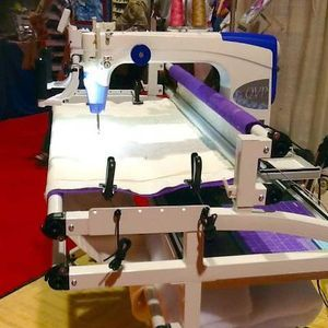 "Juki, TL2200, tl-2000, QVP, Quilt Virtuoso Pro, Longarm, 18x10  inch, Machine, Frame, Stitch Regulator, Encoder Platform, Thread Trimmers, M Bobbin, Direct Drive, Front Back, 8 Wheel Platform, 2200SPM, Juki TL2200QVP Quilt Virtuoso Pro LongArm 18x10"" Machine +5-10-12' Grace Frame, Stitch Regulator, Thread Trim, MBobbin, Direct Drive, Front Rear Handles"