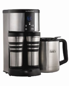 New Hamilton Beach 45238R Stay Or Go Custom Pair Deluxe Coffee Maker