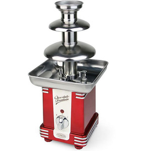 Nostalgia Electrics RFF-500 Retro 3Lbs Chocolate Fondue Fountain, 2 Tier Tower, Stainless Steel Base, Auger No Pump, Heat & Motor Switches, Easy Clean