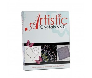 Artistic Crystals Software V6.0 Rhinestones Designs Embellishment, Machine Embroidery & Applique, AutoFill, Styles, Sizes, Graphics, Outlines, Clipart