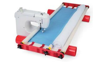 "Flynn FMFNS Improved Multi Frame Quilting System, Free Motion 45""W, 3Rails 1-1/8x48""L, 6Rod Ends, 2PVC Roller Pipes, Tension & Leader Strips, 8Lb, DVD"