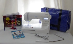 Brother, Project Runway, PC420PRW, Computer, Sewing Machine, +AllStars, Anthony Ryan, Signature, +Book, Pattern, Scissors, Case, 294 Stitch, Threader, Trimmer, Knee Lift