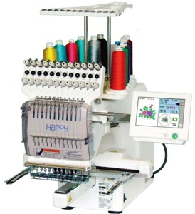 Happy, happy happy happy, HCH1201, HCH-1201, Voyager2, 12 Needle Embroidery Machine, Large Embroidery Area, Happy Journey, User Friendly Embroidery Machine, Meistergram, Melco, Ricoma, Brother 1000, Entrapanuer,